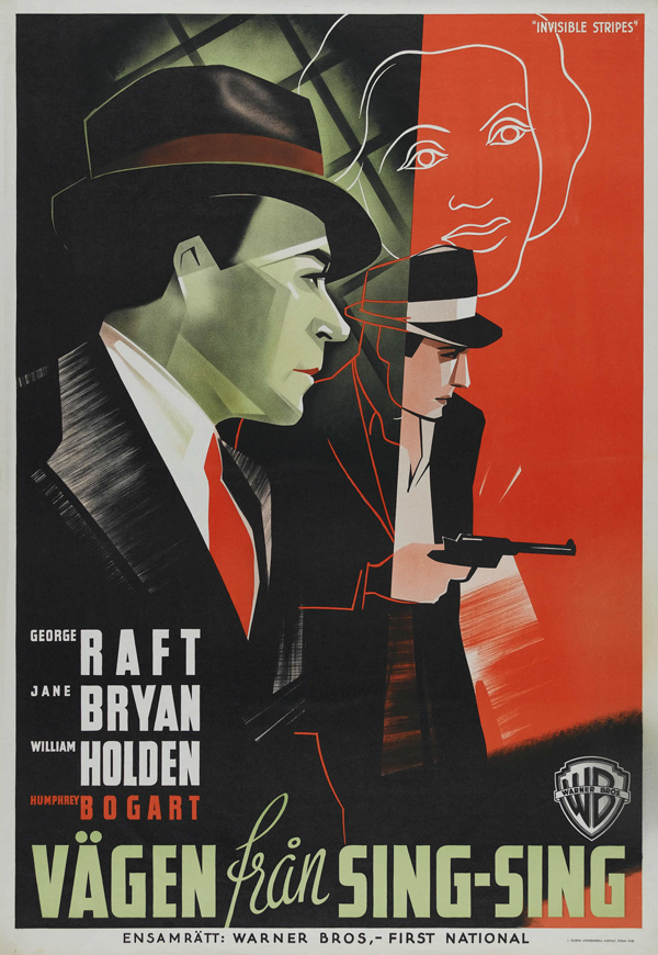 10-Invisible-Stripes-Warner-Brothers--1939-Swedish-Poster